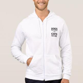 Los perros tienen dueños, gatos tienen el personal sudadera con capucha