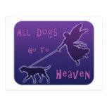 Los perros van al cielo postal