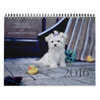 Los perros y los perritos de la mística maltesa, calendarios de pared