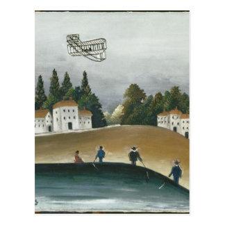 Los pescadores y el biplano de Henri Rousseau Postal