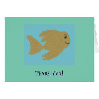 Los pescados de Goldie le agradecen las notas Tarjeta Pequeña