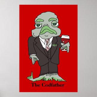 Los pescados de la impresión del poster de Codfath