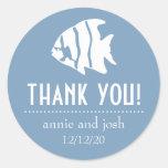 Los pescados del ángel le agradecen las etiquetas pegatinas redondas