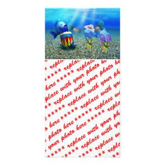 Los pescados del canto tarjeta fotográfica