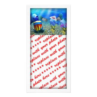Los pescados del canto tarjeta personal con foto