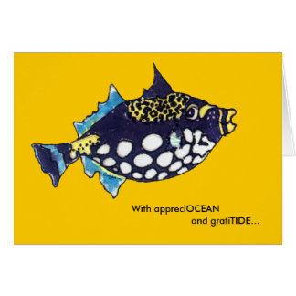 Los pescados del dibujo animado de AppreciOCEAN Gr Tarjetón