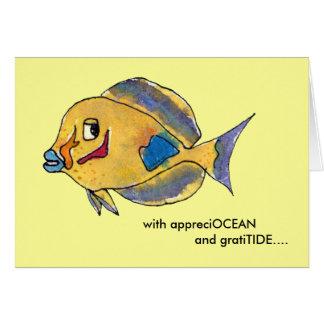 Los pescados del dibujo animado del sabor de Appre Tarjeton