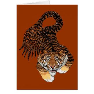 Los pescados del tigre tarjeton
