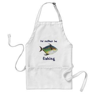 Los pescados del vintage, estaría pescando delantal