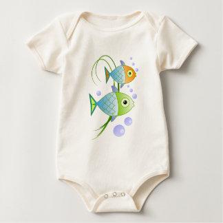 Los pescados dicen gota mamelucos de bebé
