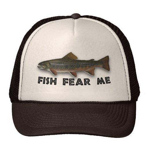 Los pescados divertidos del pescador me temen gorro de camionero