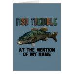 Los pescados divertidos tiemblan felicitación