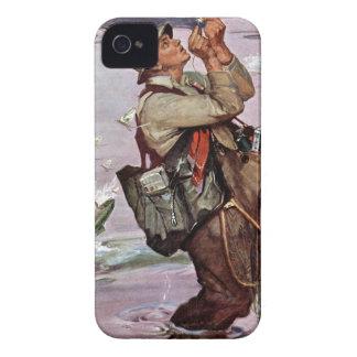 Los pescados están saltando iPhone 4 Case-Mate protector