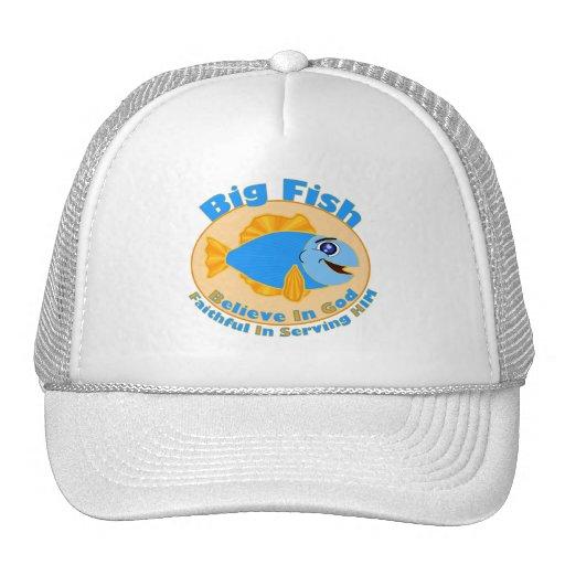 Los pescados grandes creen en dios gorros bordados