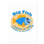 Los pescados grandes creen en dios postal