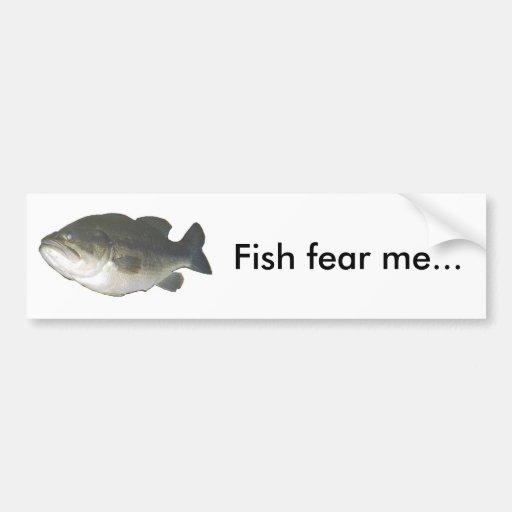 Los pescados me temen… etiqueta de parachoque