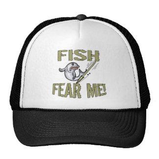 Los pescados me temen las camisetas y los regalos gorra