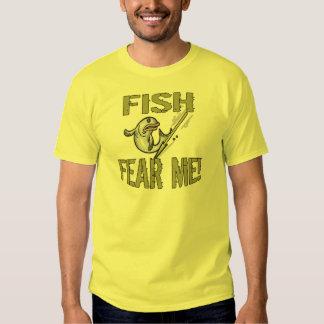 Los pescados me temen las camisetas y los regalos remeras