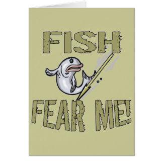 Los pescados me temen las camisetas y los regalos tarjeta de felicitación