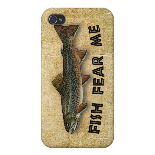 Los pescados me temen pesca divertida iPhone 4 carcasas