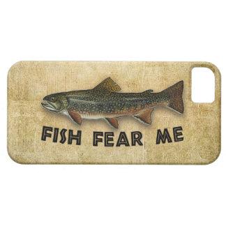 Los pescados me temen pesca divertida iPhone 5 fundas