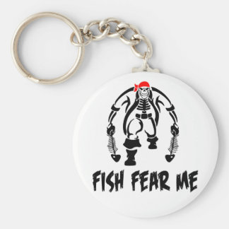 Los pescados me temen pirata llavero redondo tipo pin