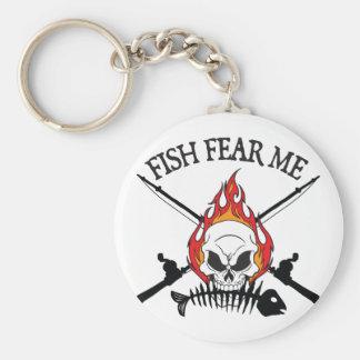 Los pescados me temen pirata llavero personalizado