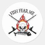 Los pescados me temen pirata pegatina
