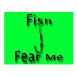 Los pescados me temen tarjetas postales