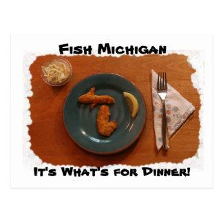 Los pescados Michigan es cuál está para la postal
