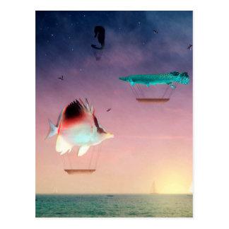 Los pescados nadan mejor entre la noche y el día postales