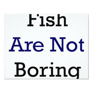 Los pescados no están agujereando invitación 10,8 x 13,9 cm