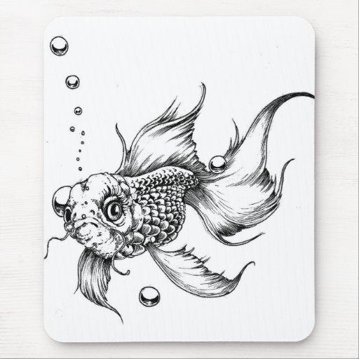 Los pescados que luchan alfombrilla de ratón