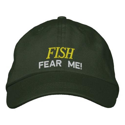 Los pescados temen que bordara el gorra gorras bordadas