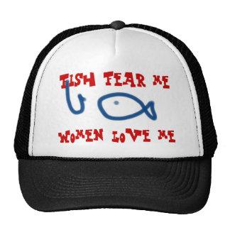 Los pescados temen que las mujeres me ame gorros bordados