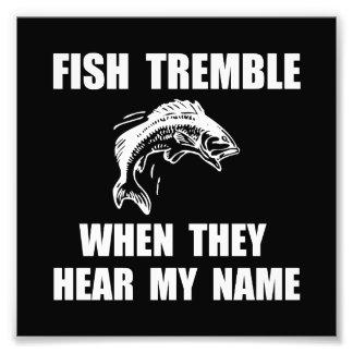Los pescados tiemblan cojinete