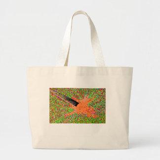 Los pescados tímidos anaranjados bolsa de tela grande