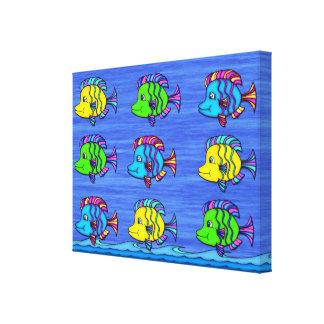 Los pescados tropicales 1 envolvieron la impresión impresiones de lienzo