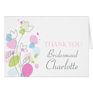 Los pétalos del confeti que casan a la dama de hon felicitacion