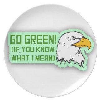 Los Philadelphia Eagles van verde Platos De Comidas