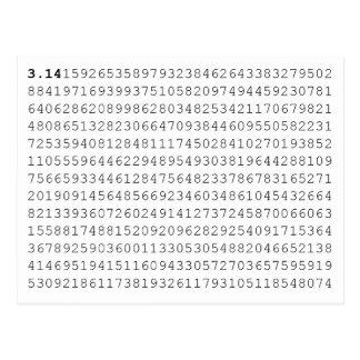 Los pi celebran día de 3,14 pi tarjetas postales