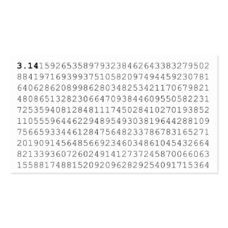 Los pi celebran día de 3,14 pi tarjetas de visita