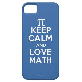 Los pi guardan calma y matemáticas del amor funda para iPhone SE/5/5s