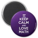 Los pi guardan calma y matemáticas del amor imán redondo 5 cm