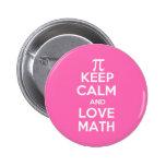 Los pi guardan calma y matemáticas del amor pins
