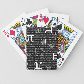 Los pi son cuadrado cartas de juego