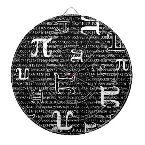 Los pi son cuadrado tabla dardos
