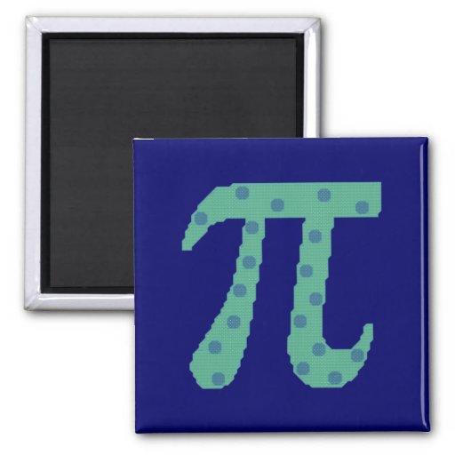 Los pi son redondos imán cuadrado