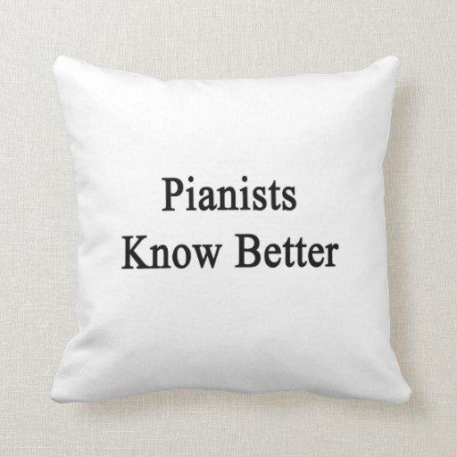 Los pianistas saben mejor cojin