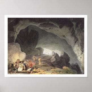 Los picos agujerean, Derbyshire (el grabado del co Póster